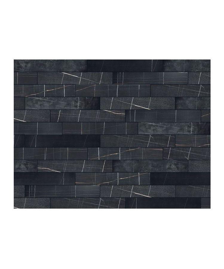 Gresie Marble Experience Sahara Noir Listello Mix 20x120