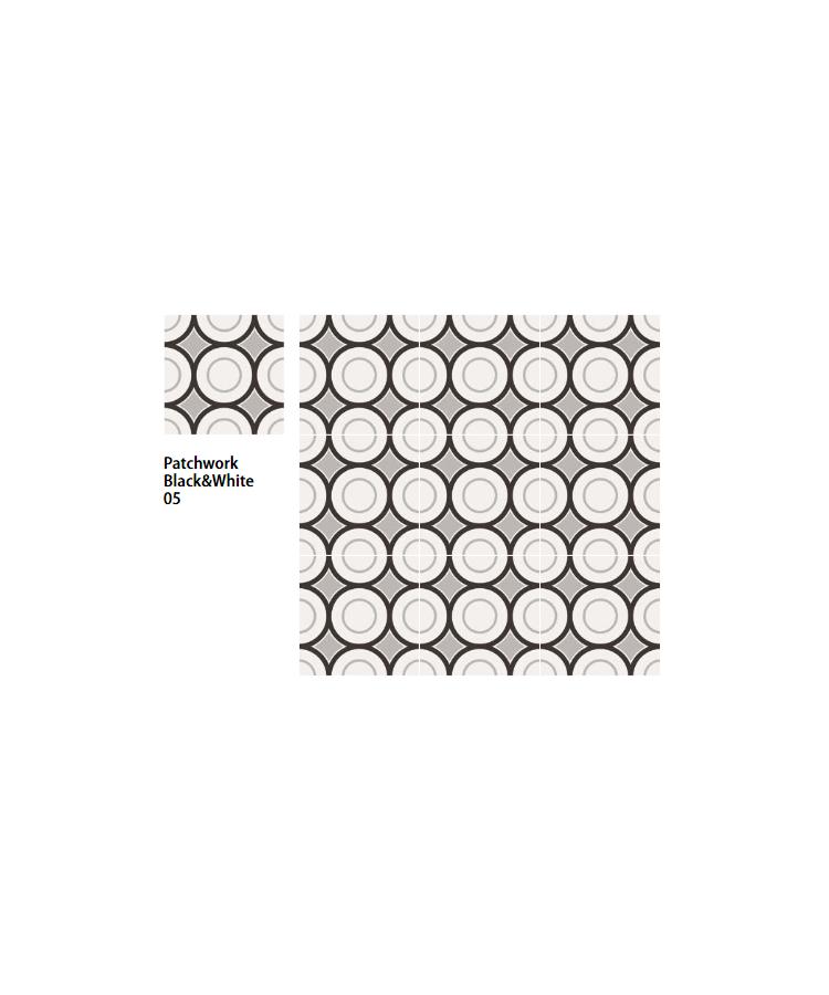 Gresie si faianta Patchwork Black&White 20x20-05