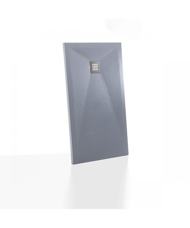 Cadita Dus Compozit Ultraslim Culoare Gri Ciment 80x120 cm