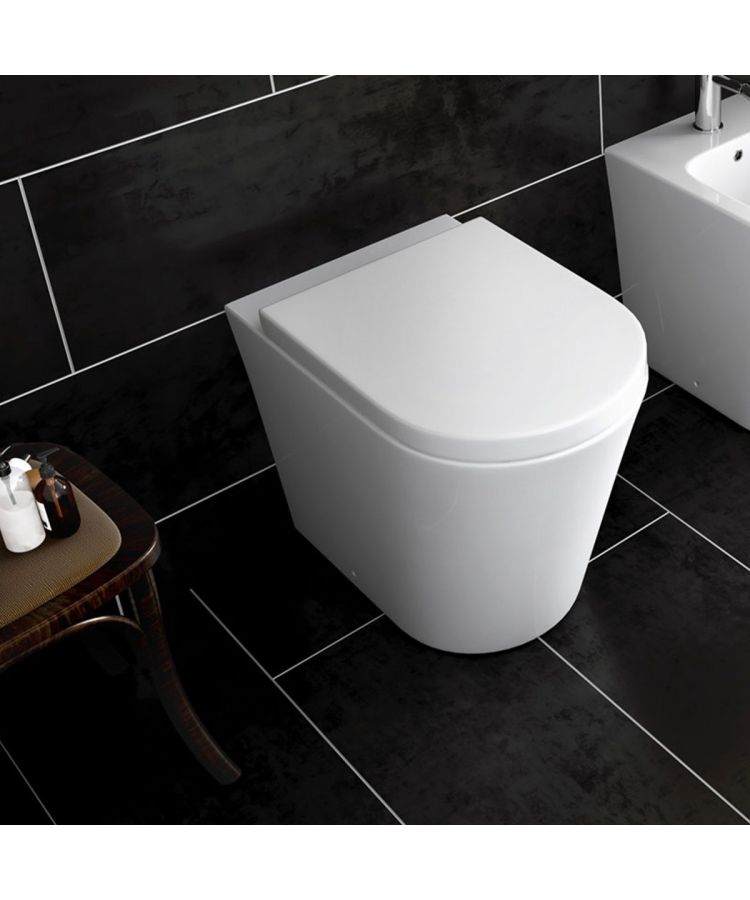 Vas WC Seria Kama Rimless la Perete Cu Capac Soft Close