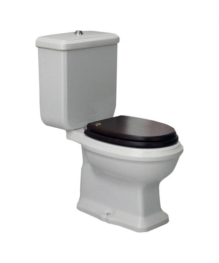 Vas WC monobloc  Simas Arcade cu capac nuc