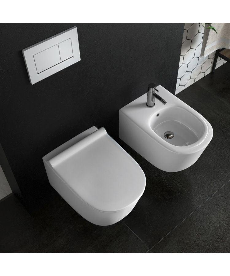 Set WC + Bide Suspendat -Fleur Rimless