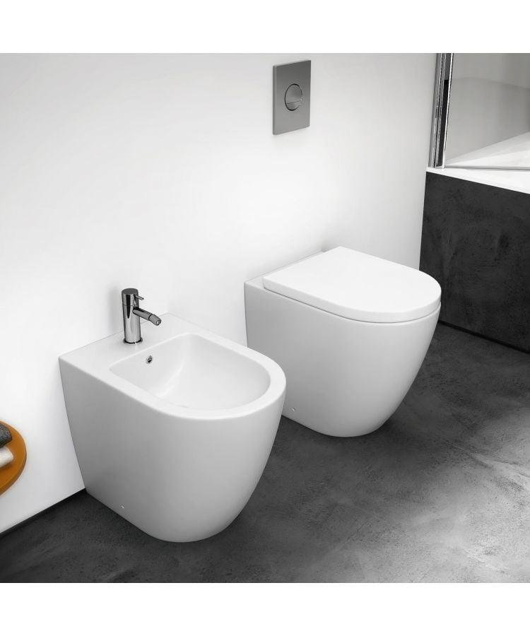 Set Bide + Vas WC la Perete Volga Cu Capac Soft-Close