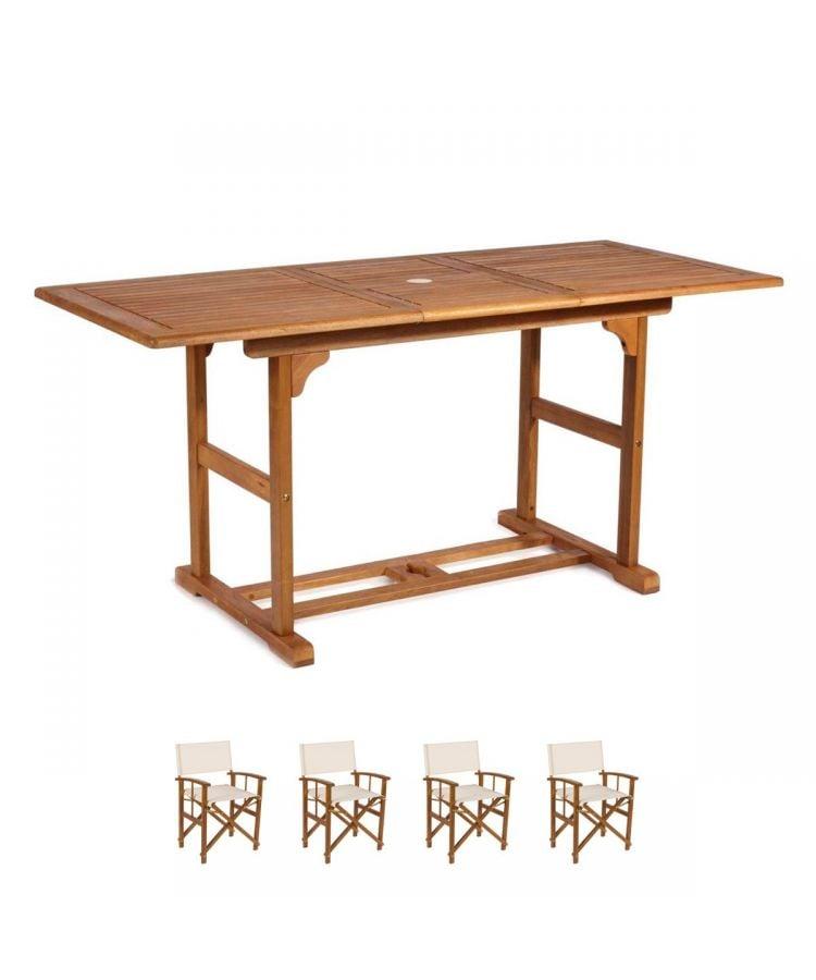 set mobilier gradina din lemn pentru pranz cina
