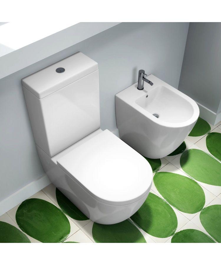 Set WC Stativ Cu Caseta Ceramica + Bide Serie Volga