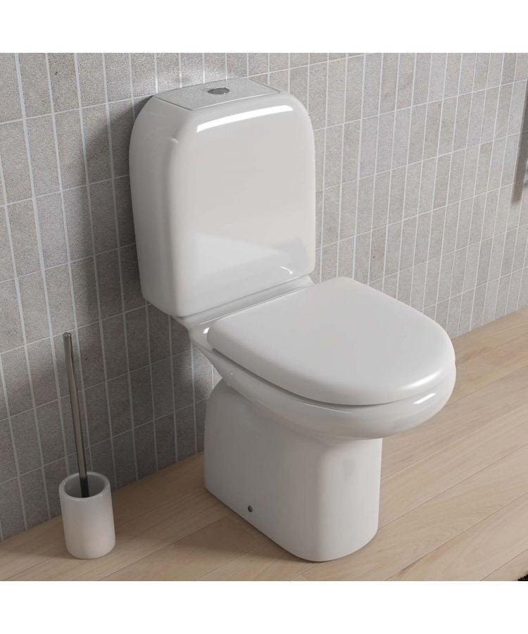 Vas WC monoblocu scurgere in pardoseala rezervor si capac