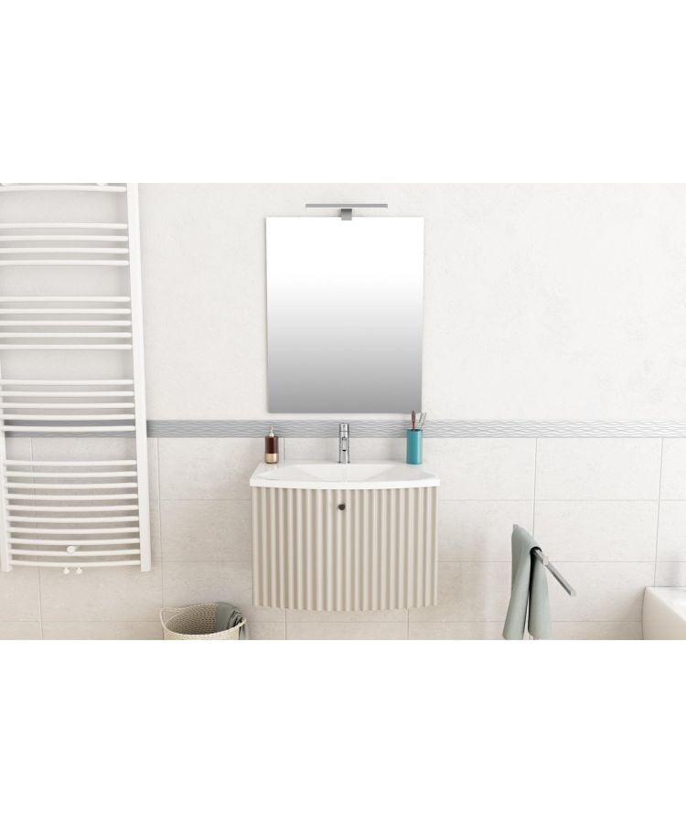 Set mobilier baie Diadema cu oglinda L 65 cm