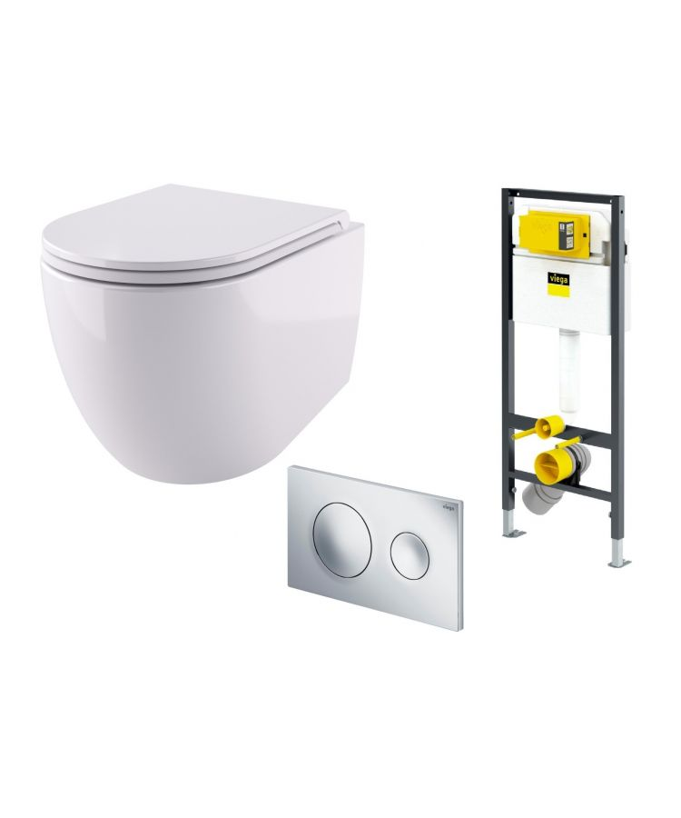 set wc suspendat hidra tour + rezervor viega