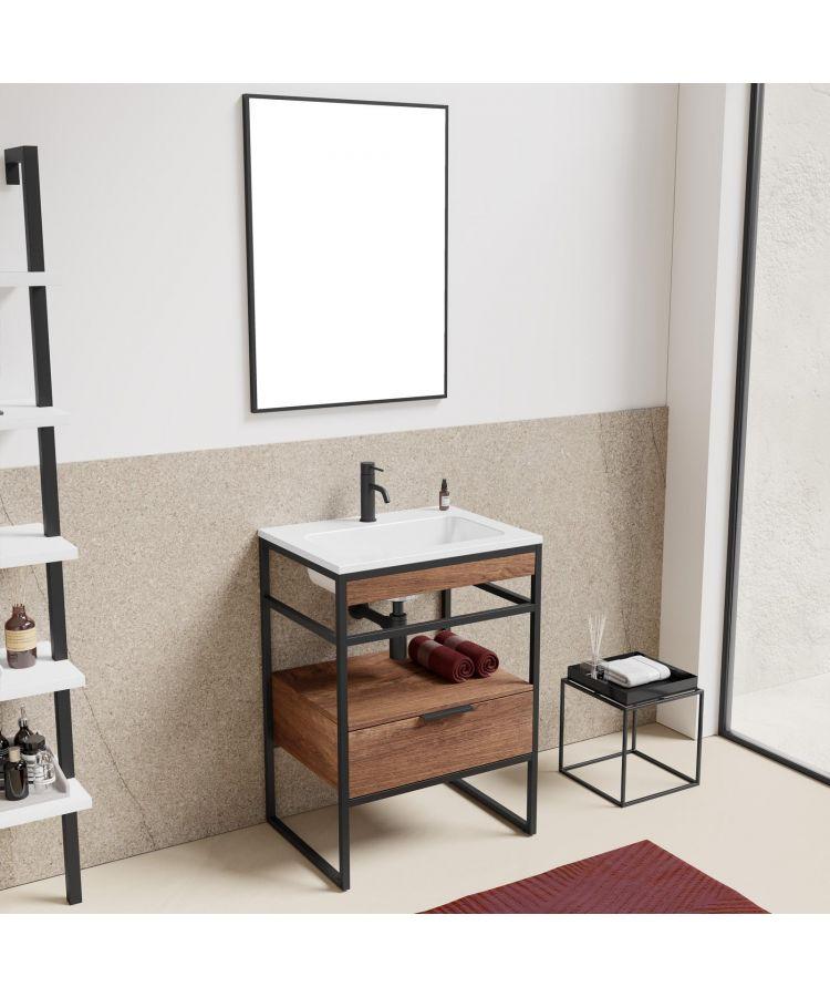 Set Complet Mobilier Baie Sierra Finisaj Nuc 60 cm