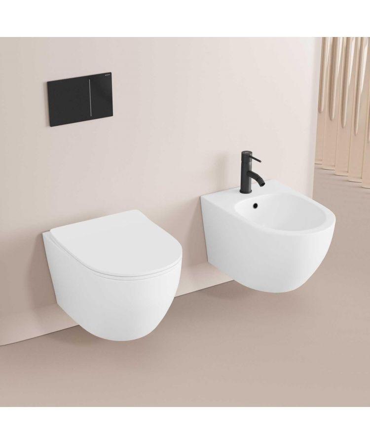 Set Vas WC si Bide suspendate Serie Nadir Alb Mat