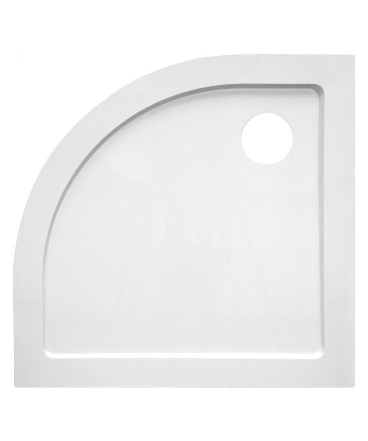 Cadita Dus Semi-Circulara din Policril Alb 90x90