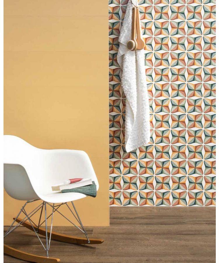 Faianta Decorata Springpaper Yellow 3D 01 25x75