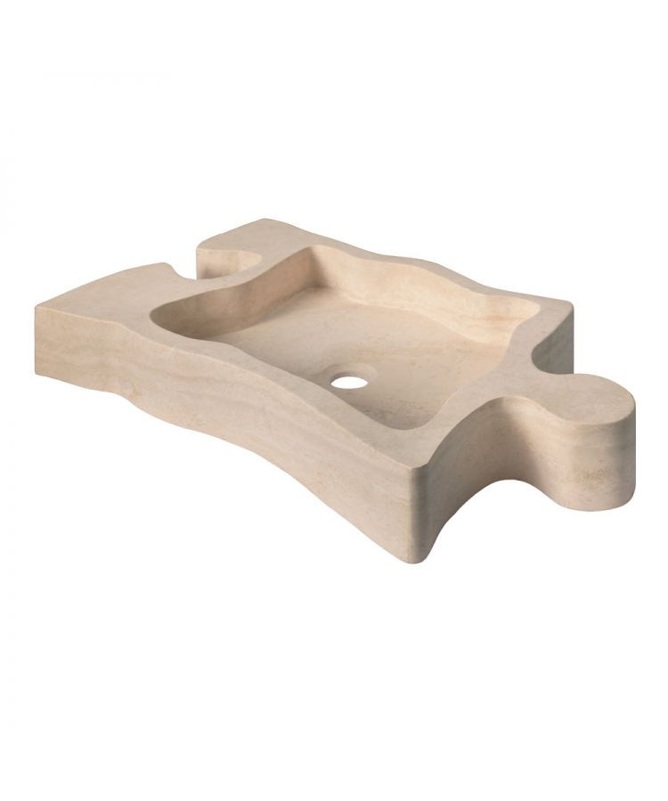 Lavoar Piatra Puzzle Travertino Chiaro 69x44,5 cm