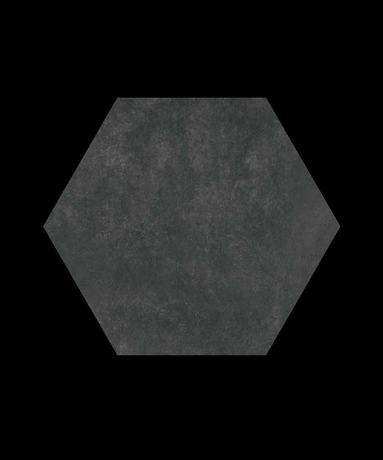 Gresie Bibulca Esagona Black 18x21
