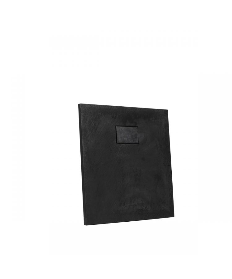 Cadita Dus Compozit Rok Negru 80x80 cm