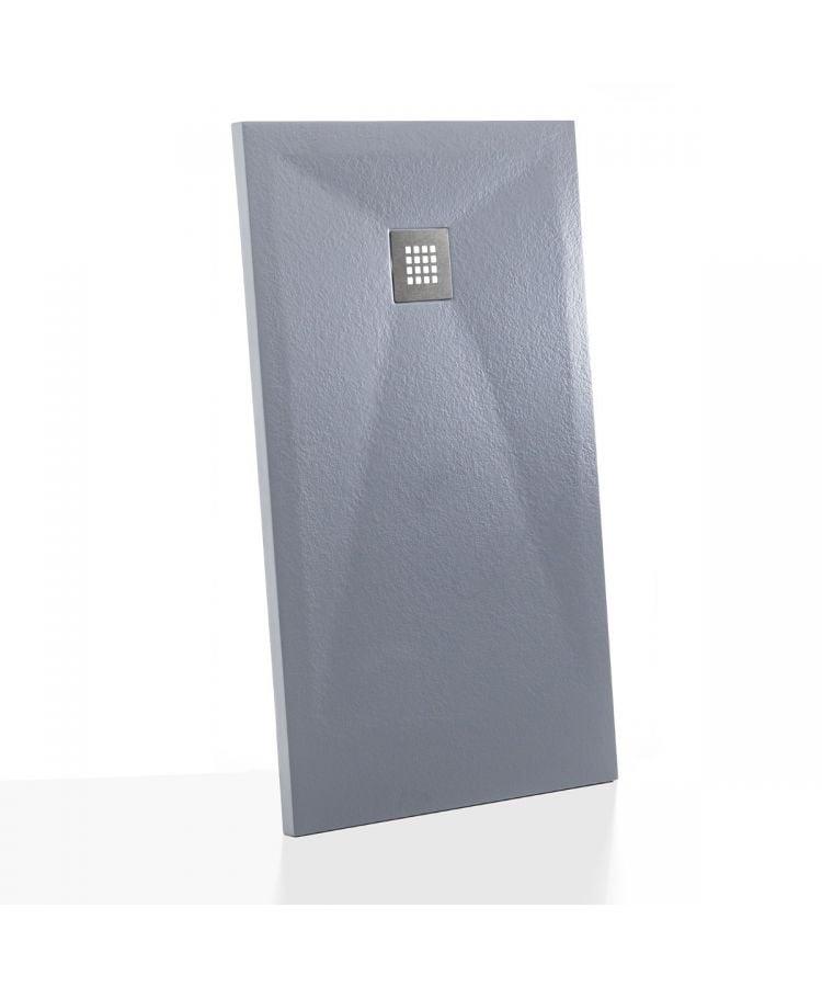 Cadita Dus Compozit Flix Gri ciment 100x80 cm