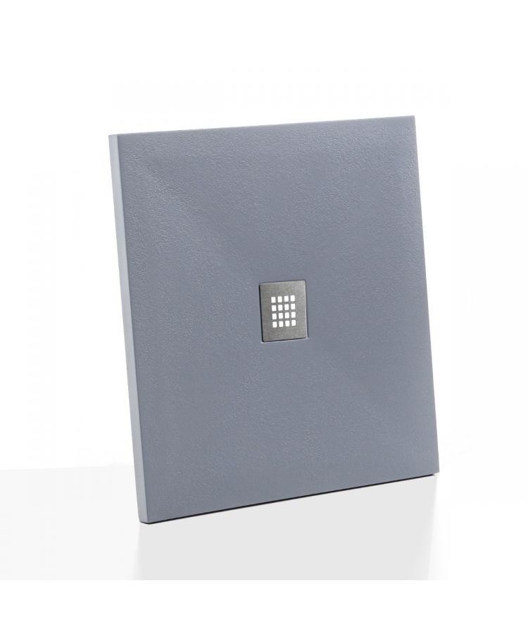 Cadita Dus Compozit Flix Gri Ciment 90x90 cm