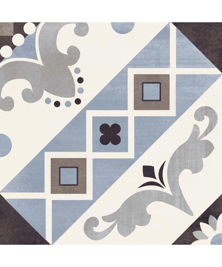 Gresie Decorata Paris-Belleville Blu-20x20 cm