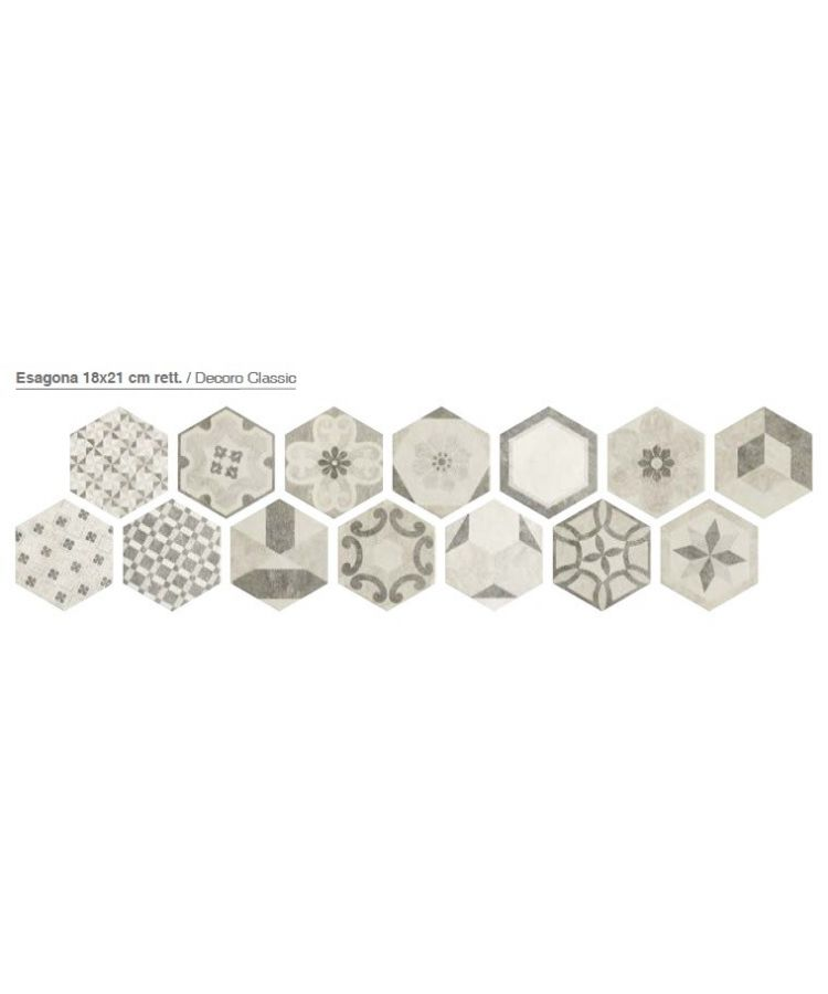 Decor Gresie Hexagonala Bibulca Clasic 18x21