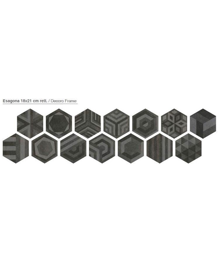 Decor Gresie Hexagonala Bibulca Frame 18x21