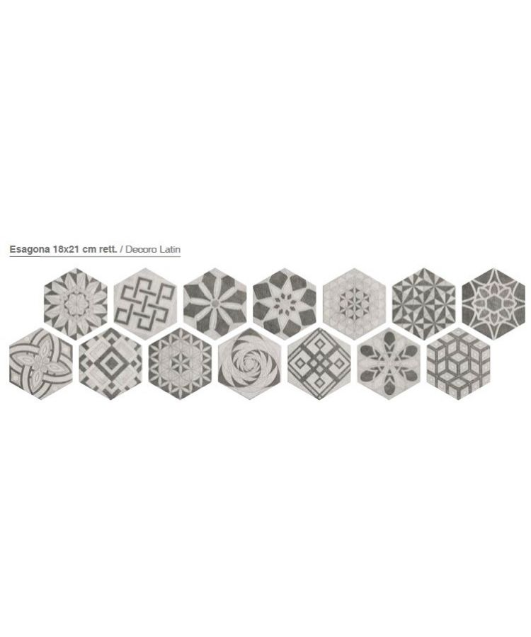 Decor Gresie Hexagonala Bibulca Latin 18x21