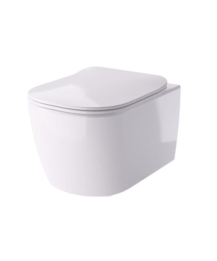 Vas WC Suspendat Hidra Faster Rimless Cu Capac Ultraslim Soft-Close