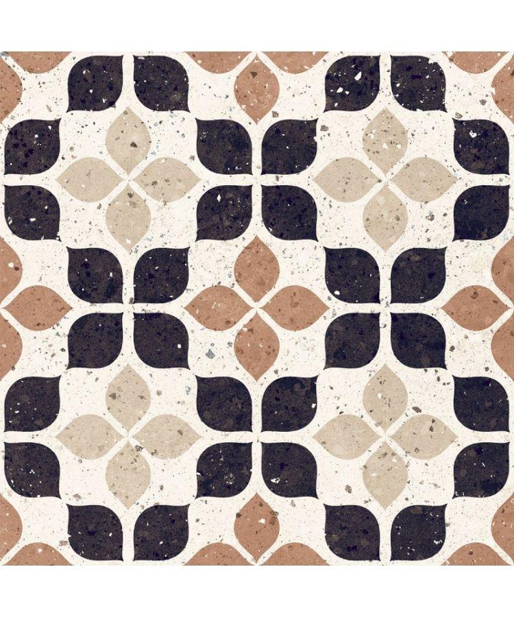 Gresie Frammenti FR6 Terracotta Fiore 20x20
