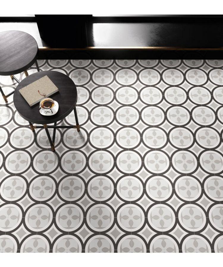 Gresie si faianta Patchwork Black&White 20x20-01