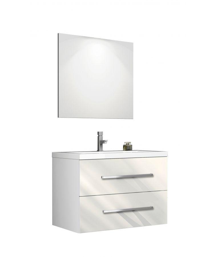 Set Complet Mobilier Baie Giudi Bianco L80 cm