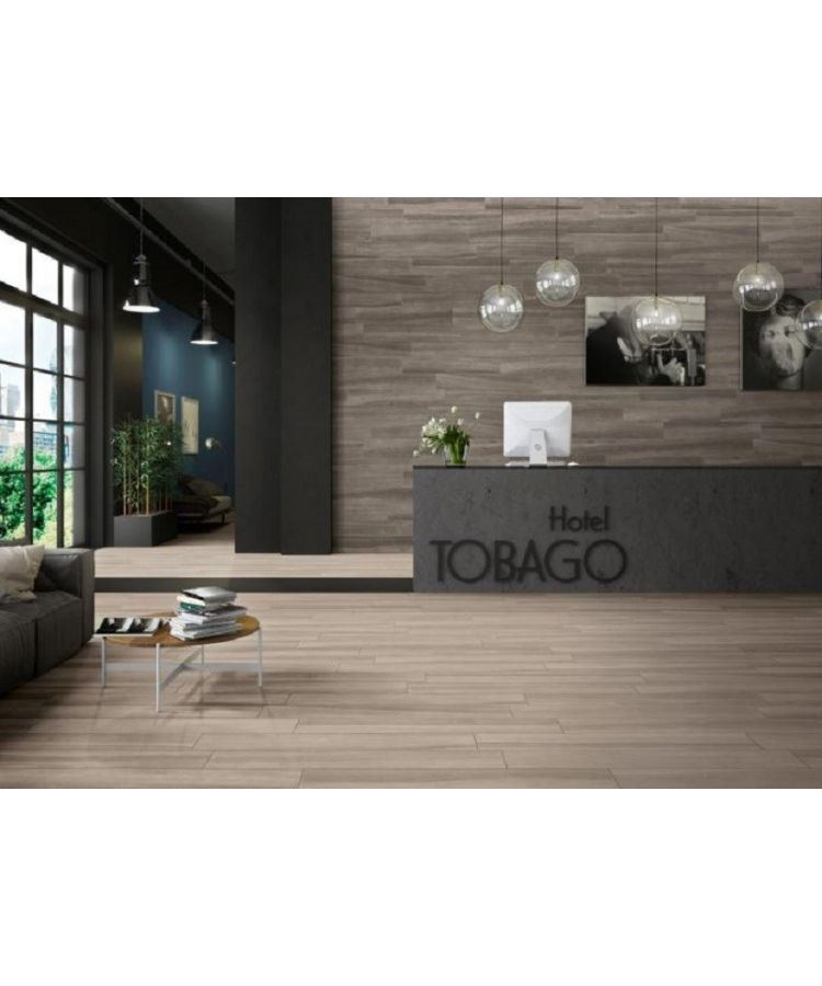 Gresie Emotion Wood Bianco 20x120 cm