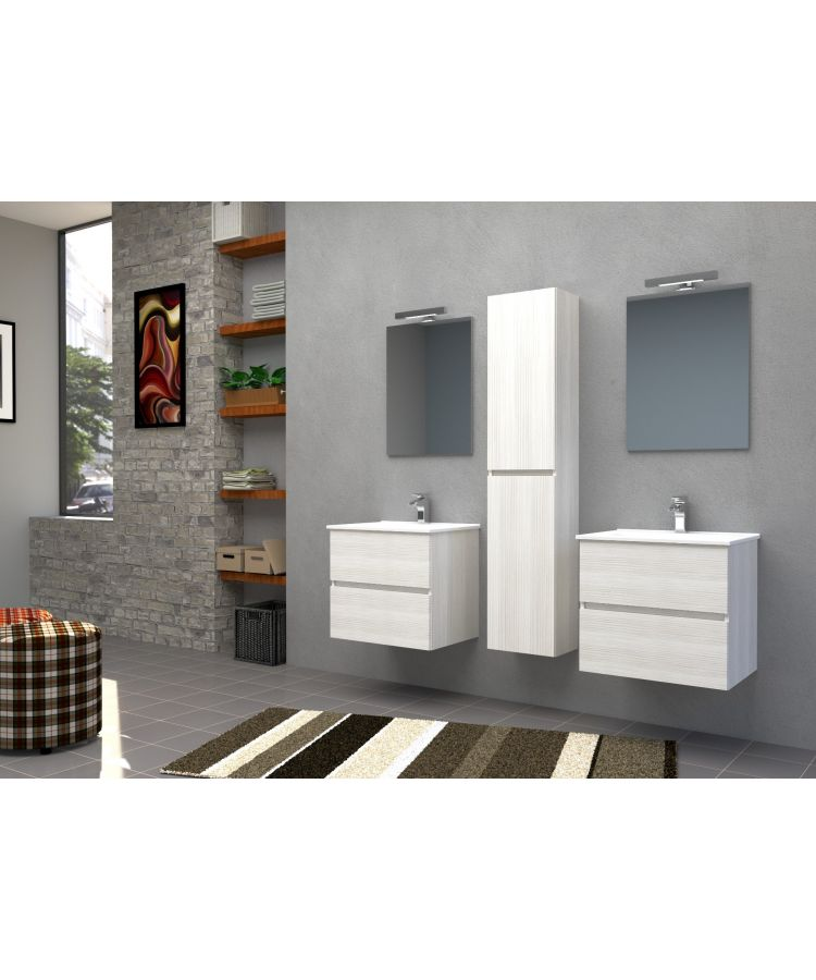 Set Complet Mobilier Baie Harmony Finisaj Bianco Matrix L61 cm