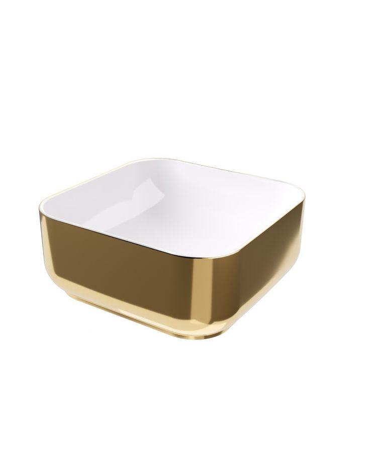 Lavoar Hidra Gio Evo Decorat Alb - Gold 42x42 h 12