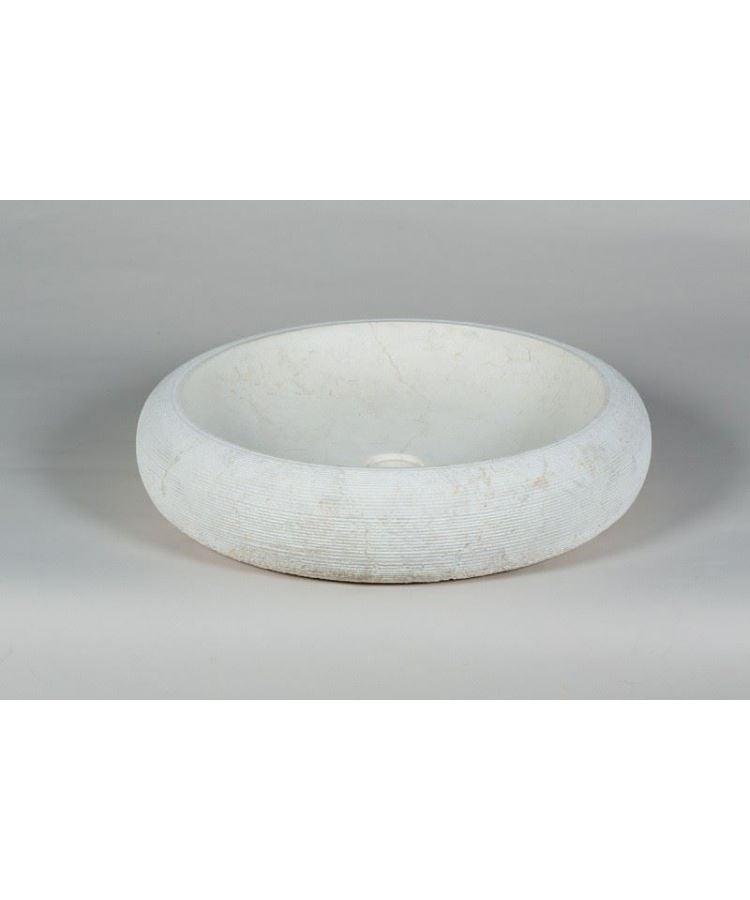 Lavoar Piatra Infinito Bianco Ø 55 cm extern