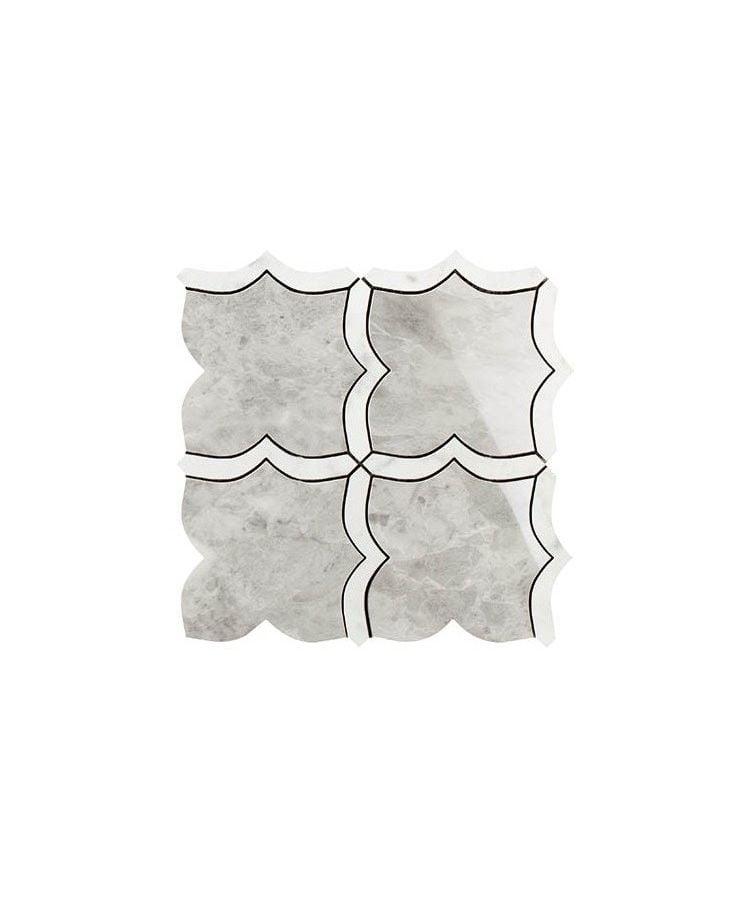 Mozaic pe plasa Mosaico Arabesque Mix Grigio Versilia Statuarietto 30x30 cm