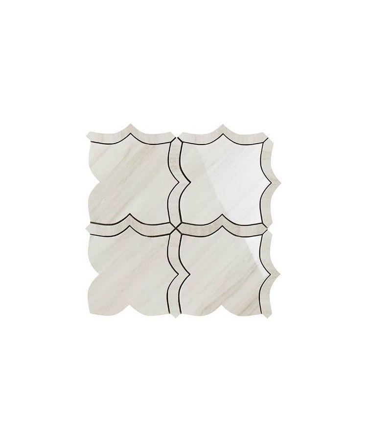 Mozaic pe plasa Mosaico Arabesque Mix Helsinki White 30x30 cm