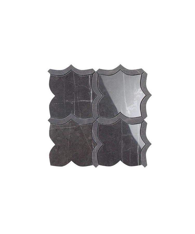 Mozaic pe plasa Mosaico Arabesque Mix Pietra Grey 30x30 cm