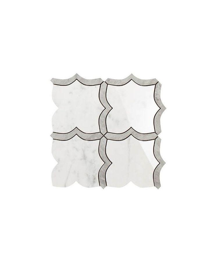 Mozaic pe plasa Mosaico Arabesque Mix Statuarietto / Grigio Versilia 30x30 cm