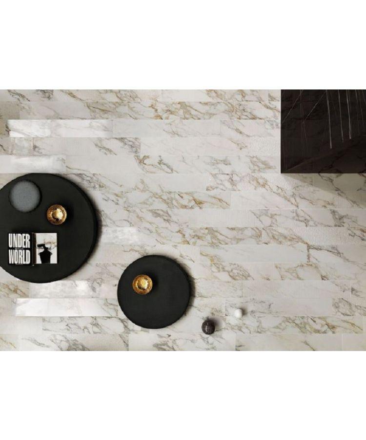 Gresie Marble Experience Calacatta Gold Listello Mix 20x120