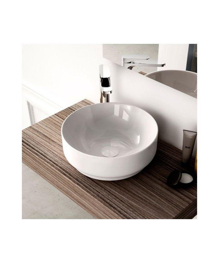 Lavoar Ceramica Alb Rotund Pe Blat Gio Evo  Ø 42 cm h 15
