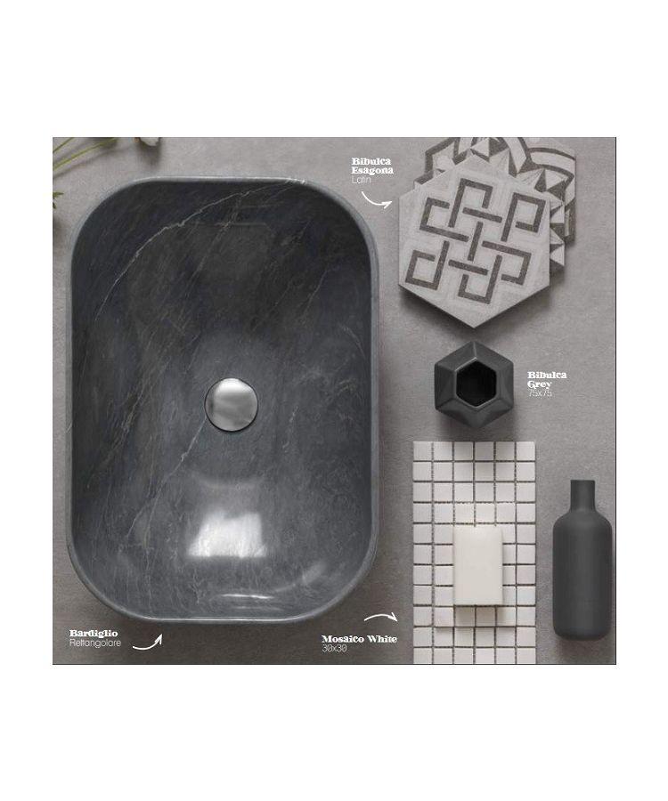 Lavoar Marmura Bardiglio Scuro Rettangolare 35x50