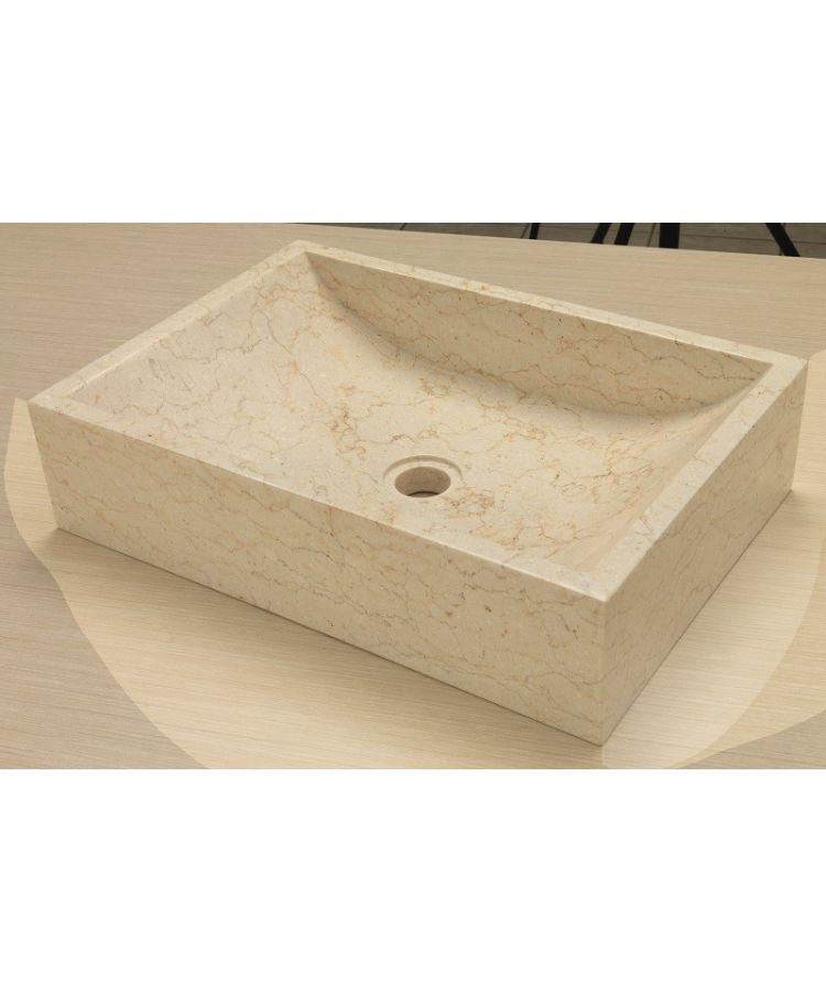 Lavoar Piatra Quadrato Beige 35x50 h12
