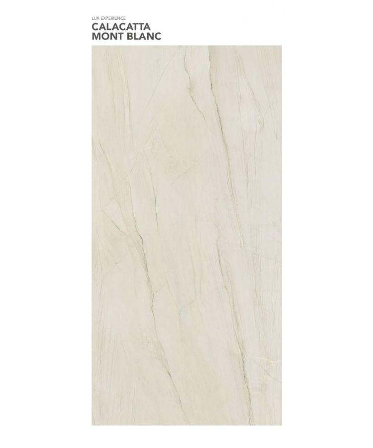 Gresie Calacatta Mont Blanc Lucios 120x260x0,6 cm