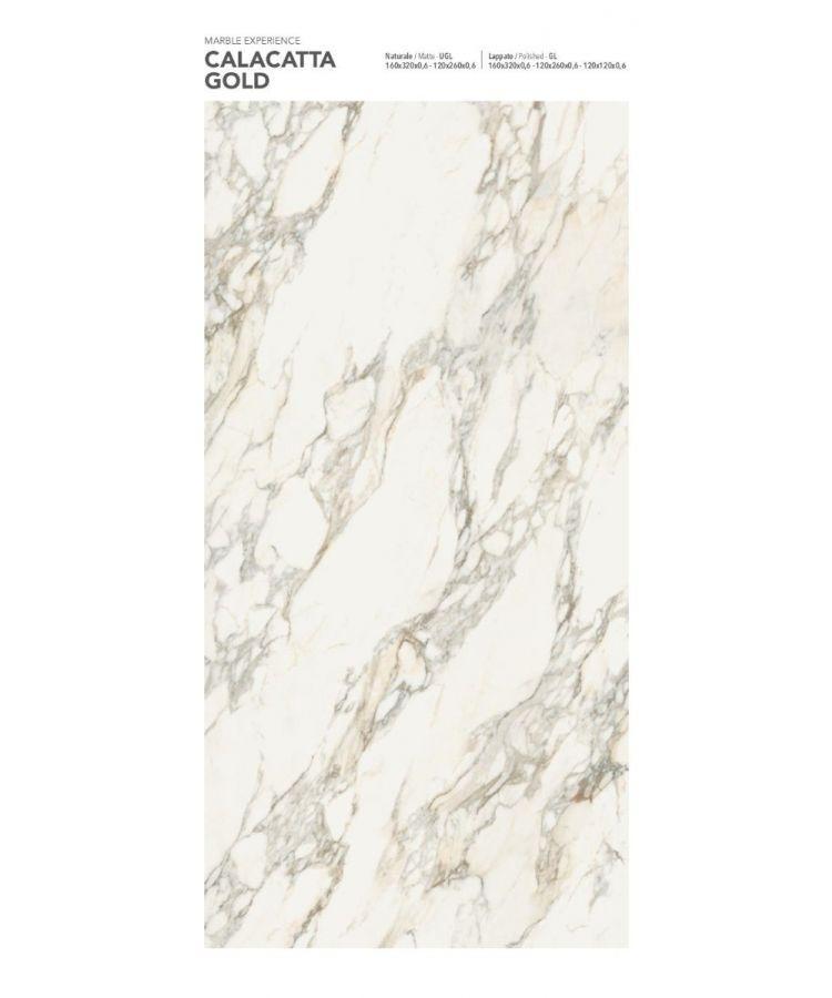 Gresie Calacatta Gold Lucios 120x260x0,6 cm