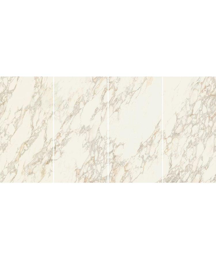 Gresie Calacatta Gold Lucios Vena Continua 160x320x0,6 cm Fotografie compusa din 4 lastre