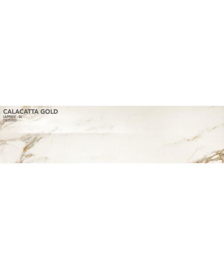 Gresie Calacatta Gold Lucios 20x160 cm