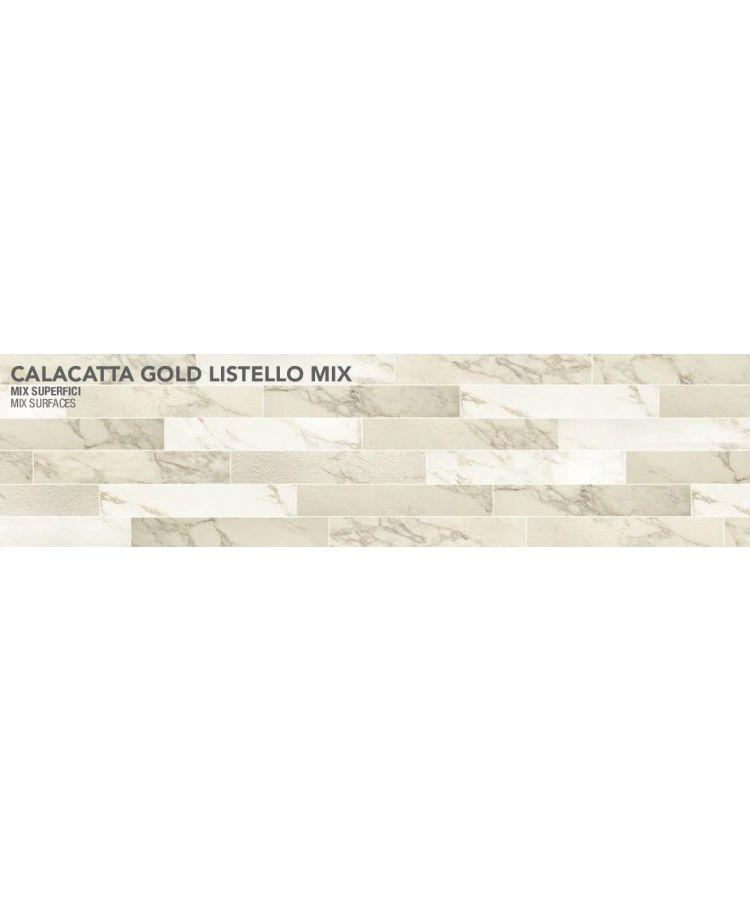 Gresie Calacatta Gold Listello mix 10x30 cm