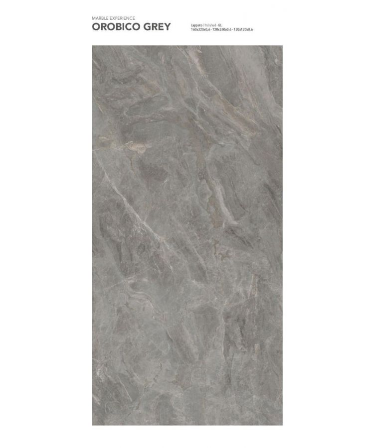 Gresie Orobico Grey Lucios 120x260x0,6 cm