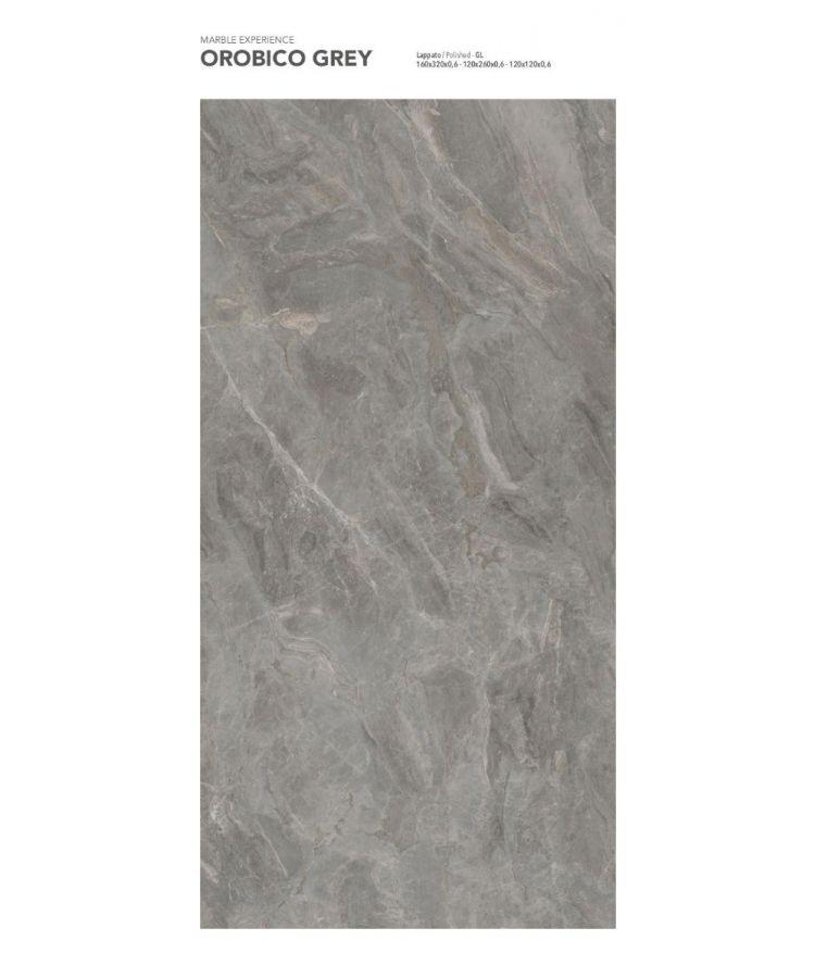 Gresie Orobico Grey Lucios 160x320x0,6 cm