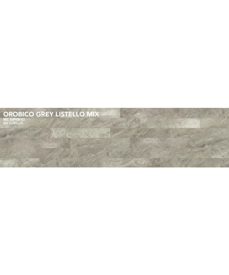 Gresie Orobico Grey Listello mix 10x30 cm