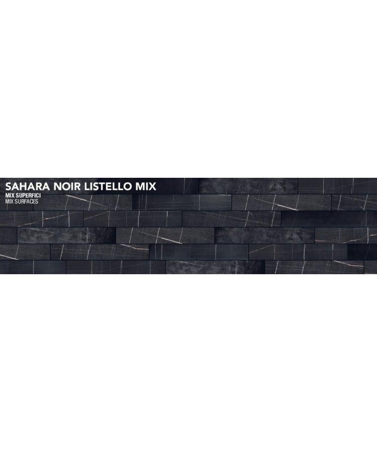 Gresie Sahara Noir Listello Mix 20x120 cm